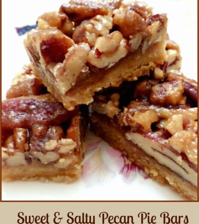 Sweet and Salty Pecan Pie Bars
