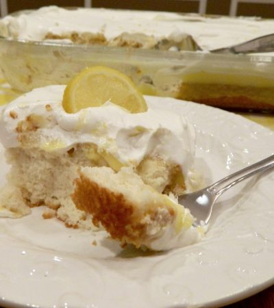 Lively Lemon Pudding Poke Cake