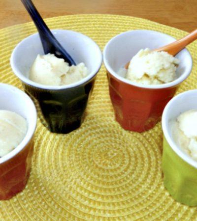 No Machine Vanilla Bean Buttermilk Ice Cream