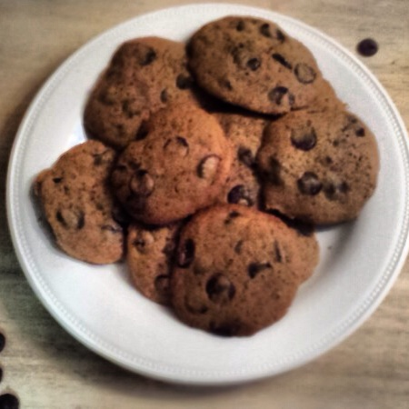 Plate of Chocolate Chips