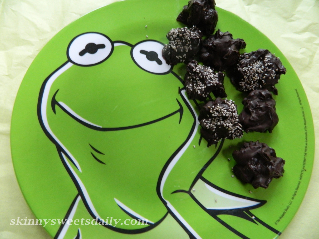 Healthy Dark Chocolate Candy With Dried Blueberries And Cranberries