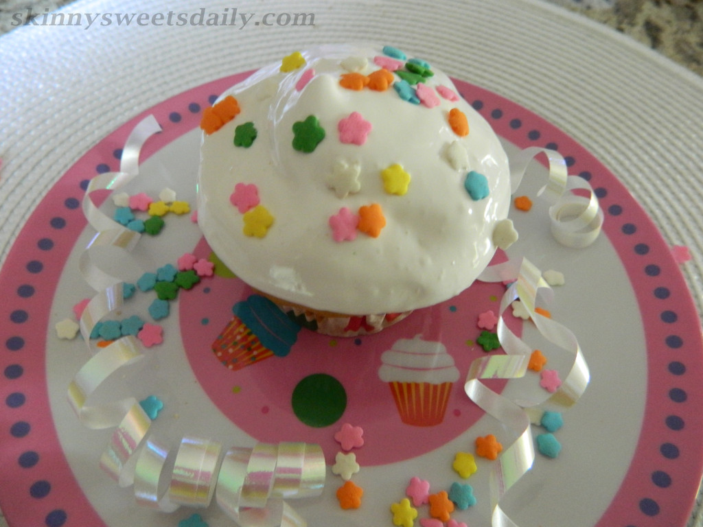 Skinny Celebration Party Cupcakes