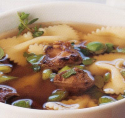 Pasta Soup with Chicken Livers
