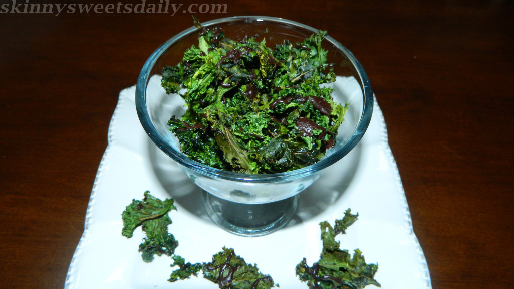 Dark Chocolate Drizzled Kale Chips