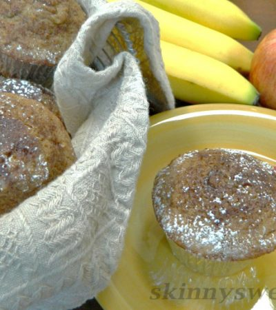 Healthy Moist Spiced Apple Muffins