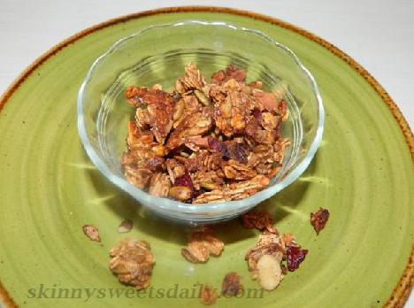 Healthy Cranberry Granola