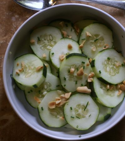 Cucumber, Peanut and Chive Salad