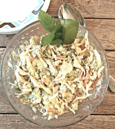Lower Calorie Creamy Coleslaw