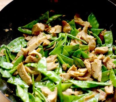 Fake Chicken and Snow Pea Stir-Fry
