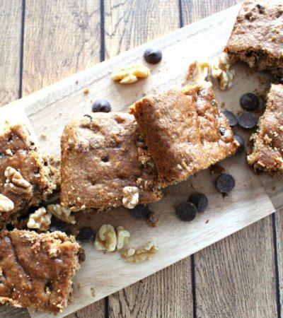Chocolate Chip Walnut Snack Cake