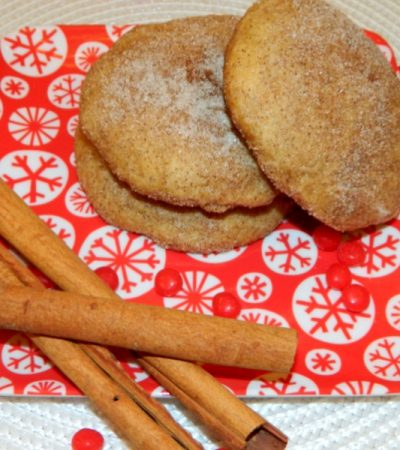Large Cinnamon Snickerdoodle Cookies