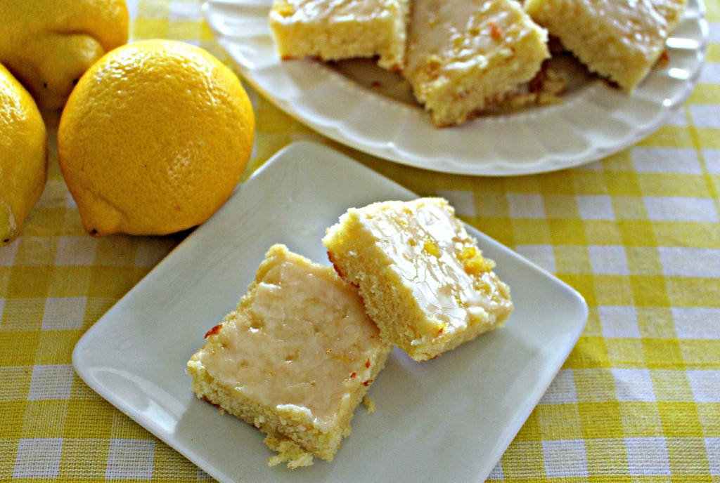 Luscious lemon brownies