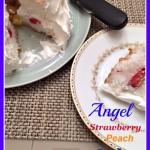 angel strawberry peach cake
