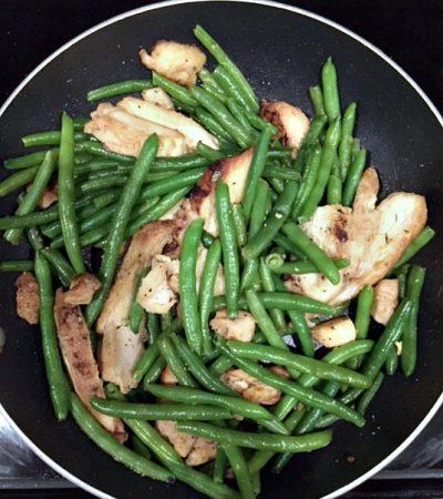 10 Minute Chicken String Bean Stir Fry