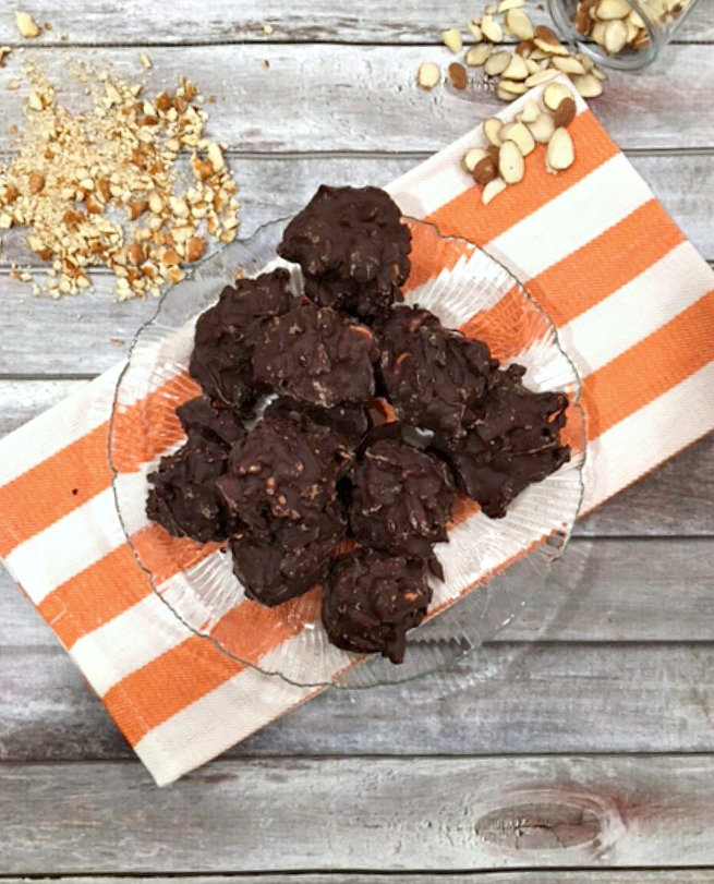 Chocolate Almond Pretzel Clusters Video
