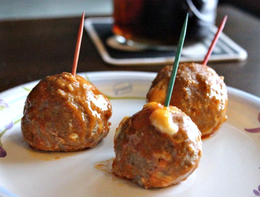 Crystal's Buffalo Chicken Meatballs