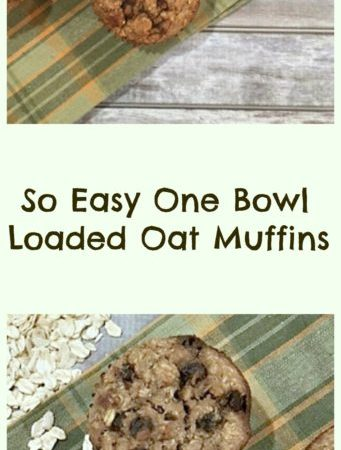 One Bowl Loaded Oat Muffins-Gluten Free!