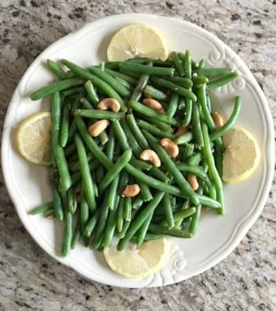 Sautéed String Beans and Cashews
