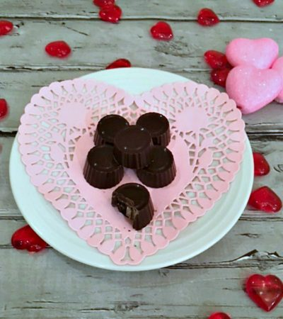 Dark Chocolate and Cherry Valentine Truffles
