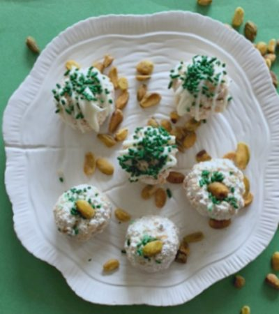 Pistachio Marshmallow Crunch Balls