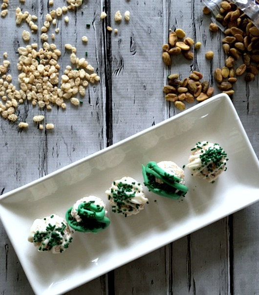 St Patty's Day Marshmallow Pistachio Crunchy Balls