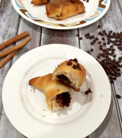 Chocolate Cinnamon/Sugar Stuffed Crescent Rolls – Easiest Recipe!