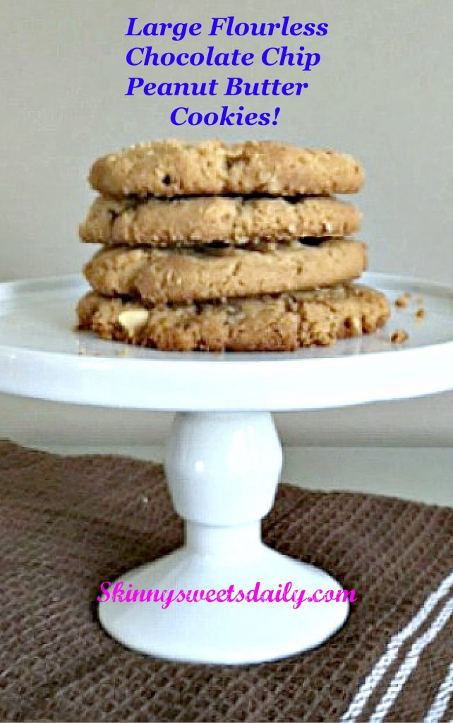 Large Flourless CC PB Cookies!
