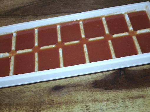 freezing tomato sauce