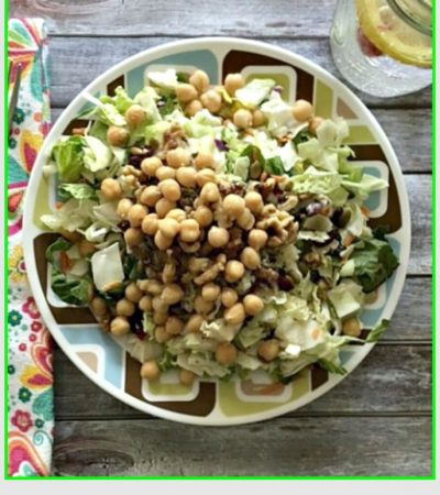 Healthy Hempseed and Chickpea Chopped Salad