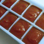 Freezing Tomato Sauce in Ice Cube Trays