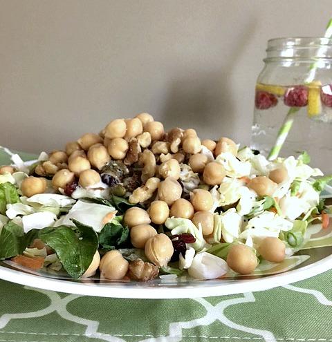 Healthy Vegan Hemp Chickpea Salad