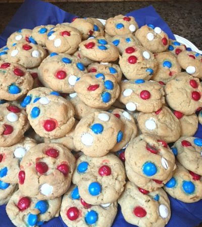 Patriotic M&M Butter Cookies
