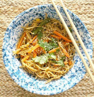Simple Stir Fry Sesame Noodles