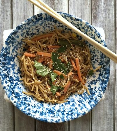 Simple Stir Fry Veggie Sesame Noodles