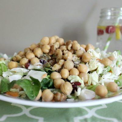 Simple Hemp Seed Chickpea Salad