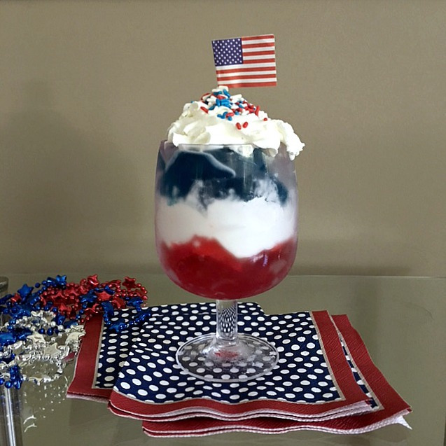 Happy 4th Jello Parfait