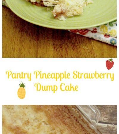 Pantry Pineapple Strawberry Dump Cake