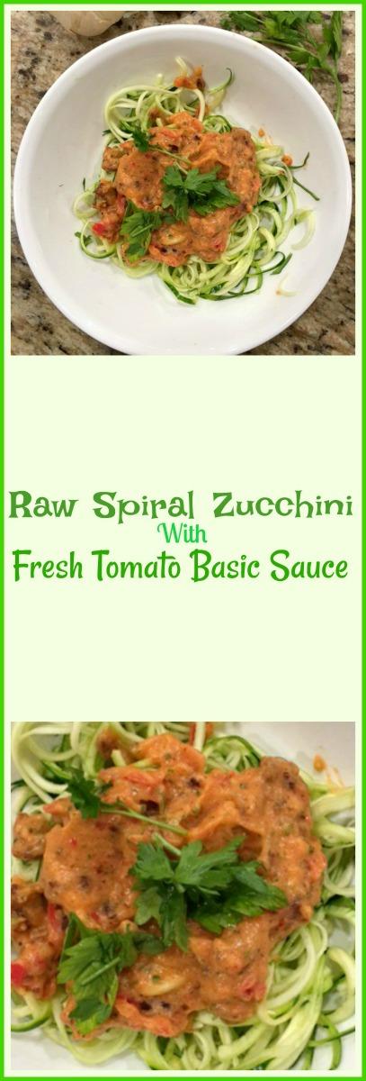 freshly sliced tomatoes and basil chiffonade