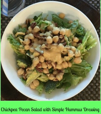 Chickpea Pecan Salad with Simple Hummus Dressing