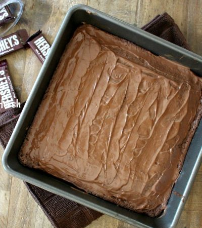 Gooey Hershey's Frosted Brownies