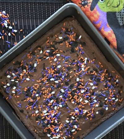 Deep Dark Fudgy Halloween Brownies