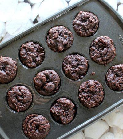 Mini Paleo Chocolate Chip Brownie Cupcakes