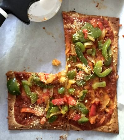 Flatbread Pizza with Roasted Veggies