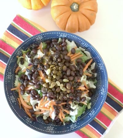 Black Bean Pumpkin Seed Quick Salad