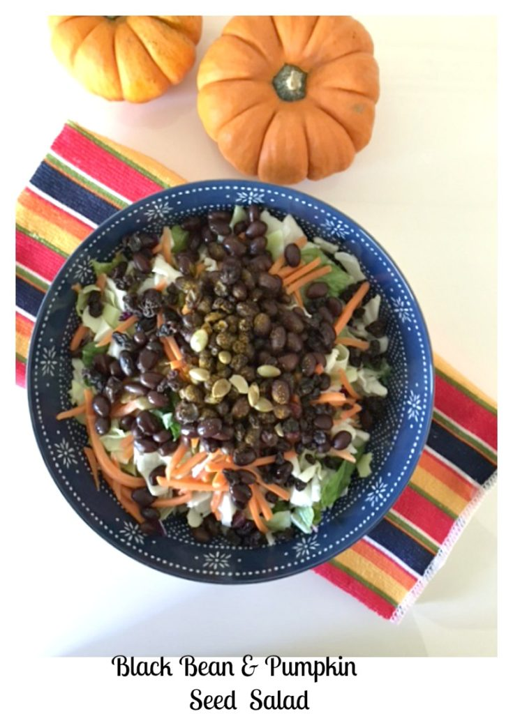 black bean amp pumpkin seed quick salad pams daily dish
