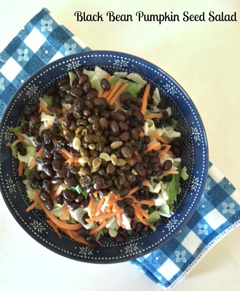 black bean amp pumpkin seed quick salad pams daily dish