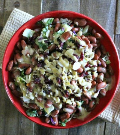 Chopped Mixed Greens and Red Bean Salad