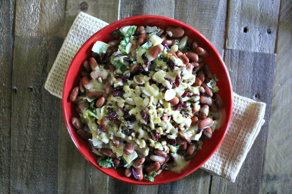 chopped-mixed-greens-and-red-bean-salad