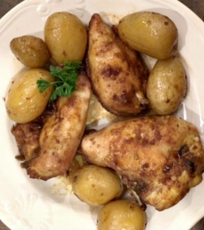 Roasted Seasoned Chicken Breasts and New Potatoes