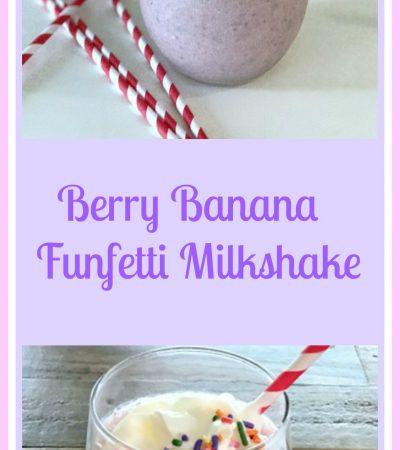 Berry Banana Funfetti Milkshake